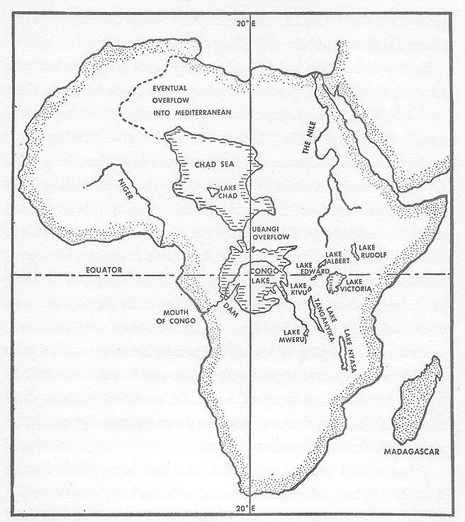 Ubangi River Map Africa Ubangi River Africa